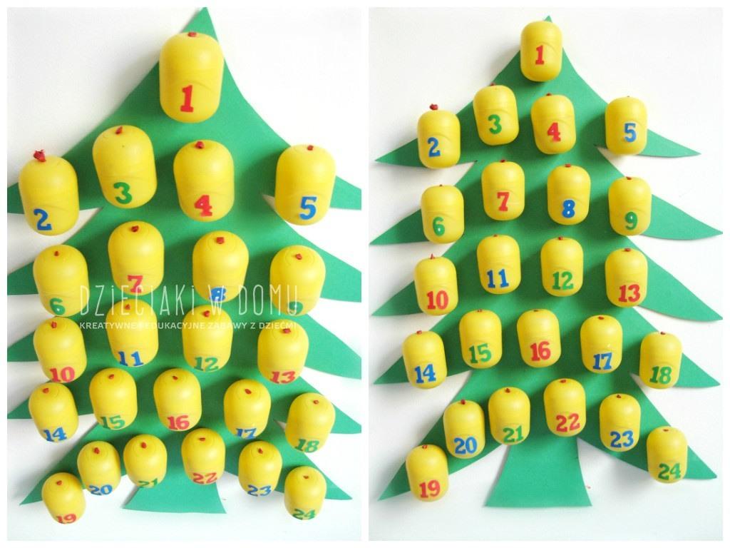 pomysł na kalendarz adwentowy dla dzieci DIY