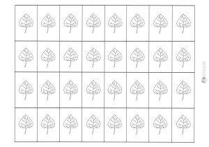 liść lipy - karteczki do przecinania