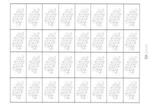 liść jarzębiny - karteczki do przecinania
