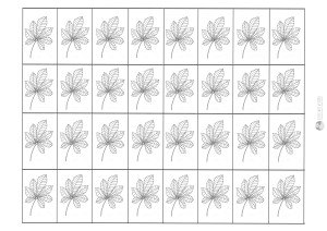 liść kasztanowca - karteczki do przecinania