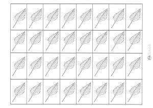 liść brzozy - karteczki do przecinania