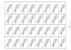 liść wierzby - karteczki do przecinania