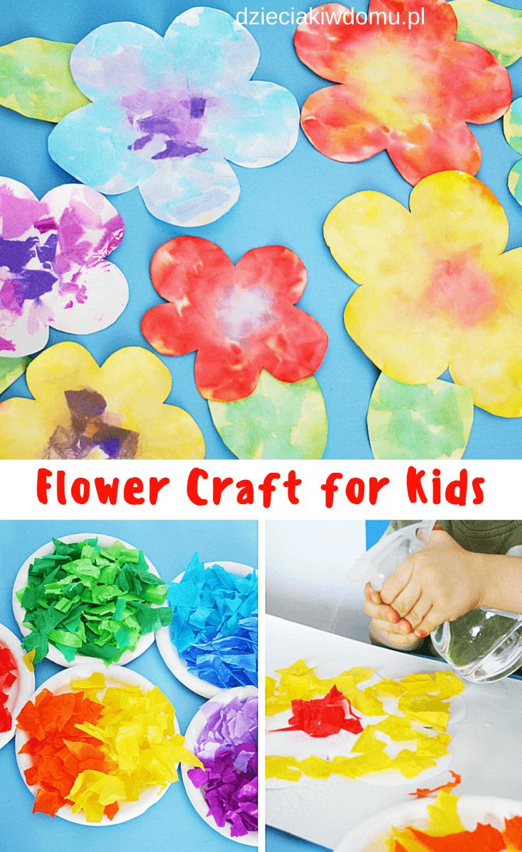 kwiatki - praca plastyczna dla dzieci