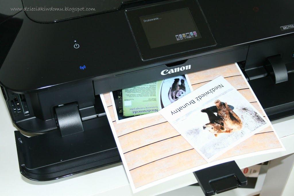 album ze zwierzętami dla dzieci, drukowanie zdjęć, Canon Pixma