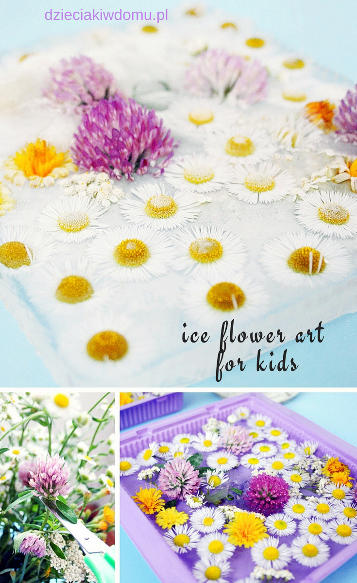 ice flower art for kids
