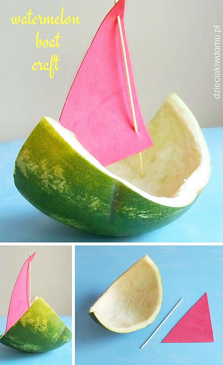 lodki z arbuza - kreatywna zabawa