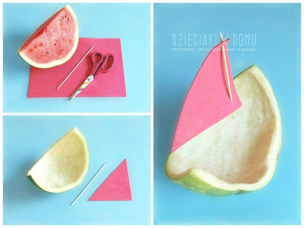arbuzowe łódki - kreatywna zabawa dla dzieci