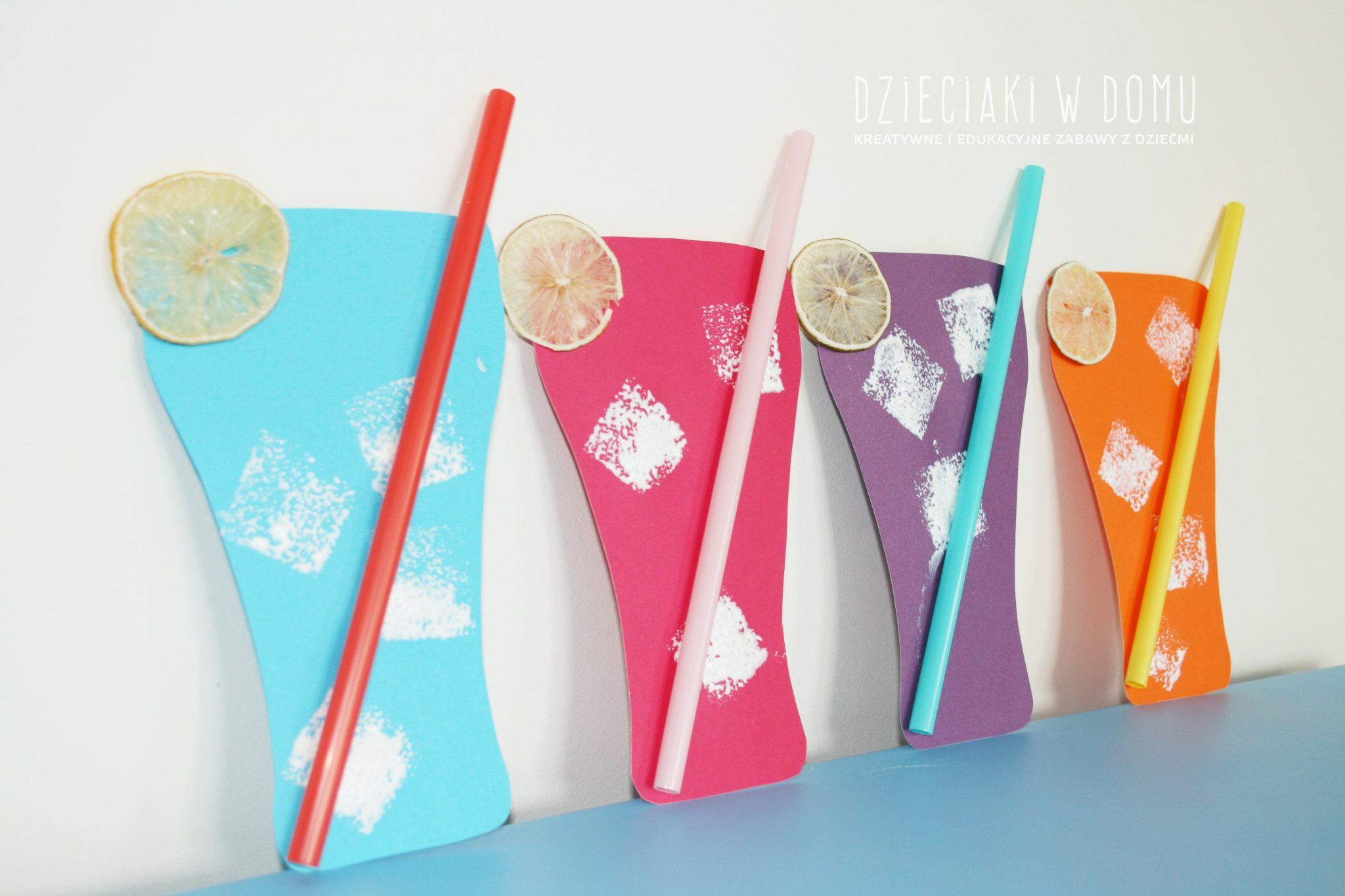 zimna lemoniada - praca plastyczna dla dzieci na lato