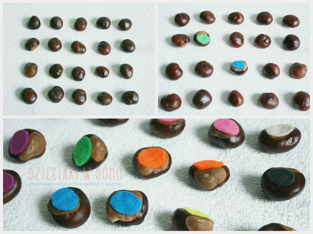 kasztanowe memory - gra dla dzieci DIY