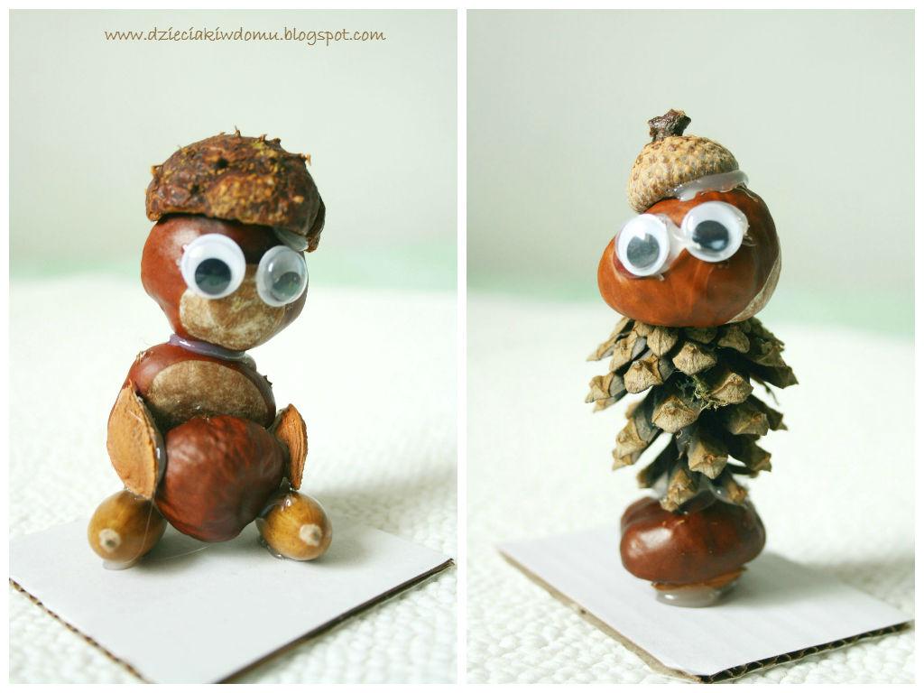 Ludziki z kasztanów i żołędzi - jesienna zabawa dla dzieci