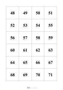 liczby 48-71 - szablon