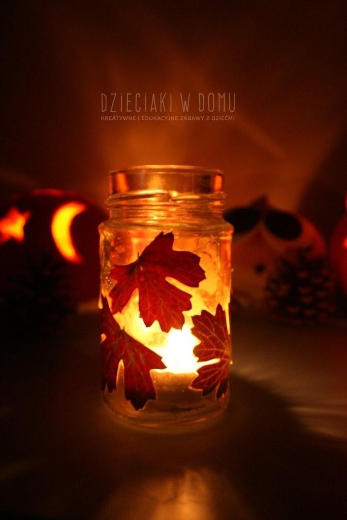 jesienne lampiony z liści
