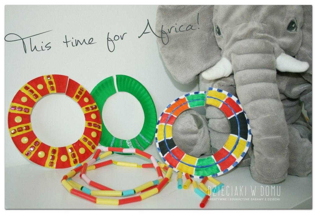 afrykańskie maski - praca dla dzieci