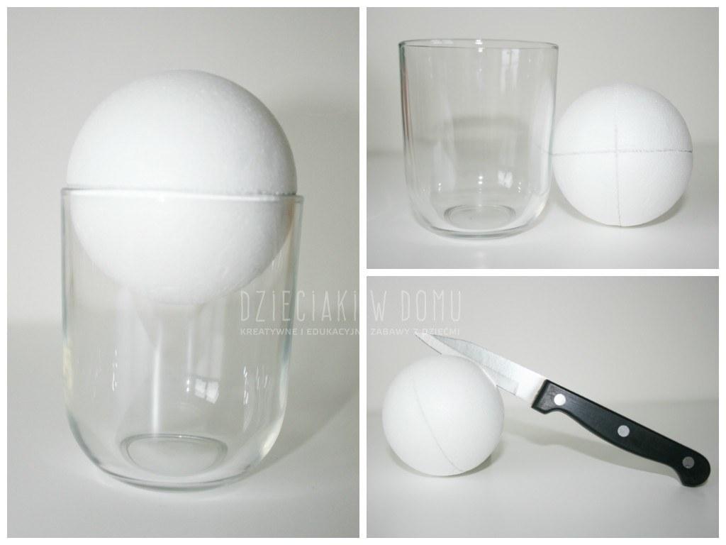 styropianowe bombki DIY