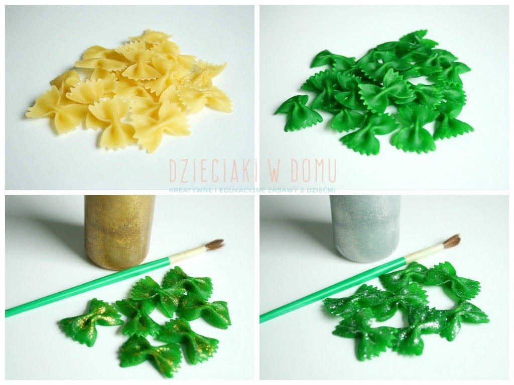 świąteczne ozdoby z makaronu