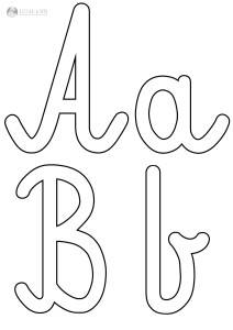 szablon liter A a B b