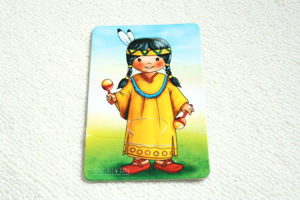 indianin - puzzle dla dzieci