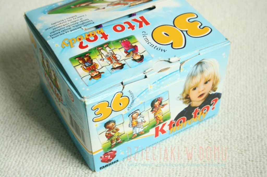 mieszkańcy swiata - puzzle dla dzieci