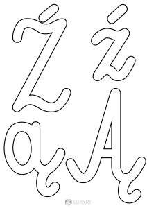 szablon liter Ź ź Ą ą