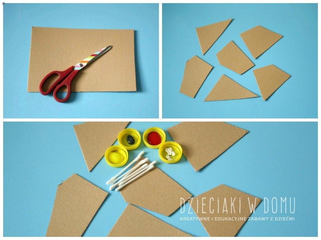 kropkowany obraz - praca dla dzieci, sztuka aborygeńska