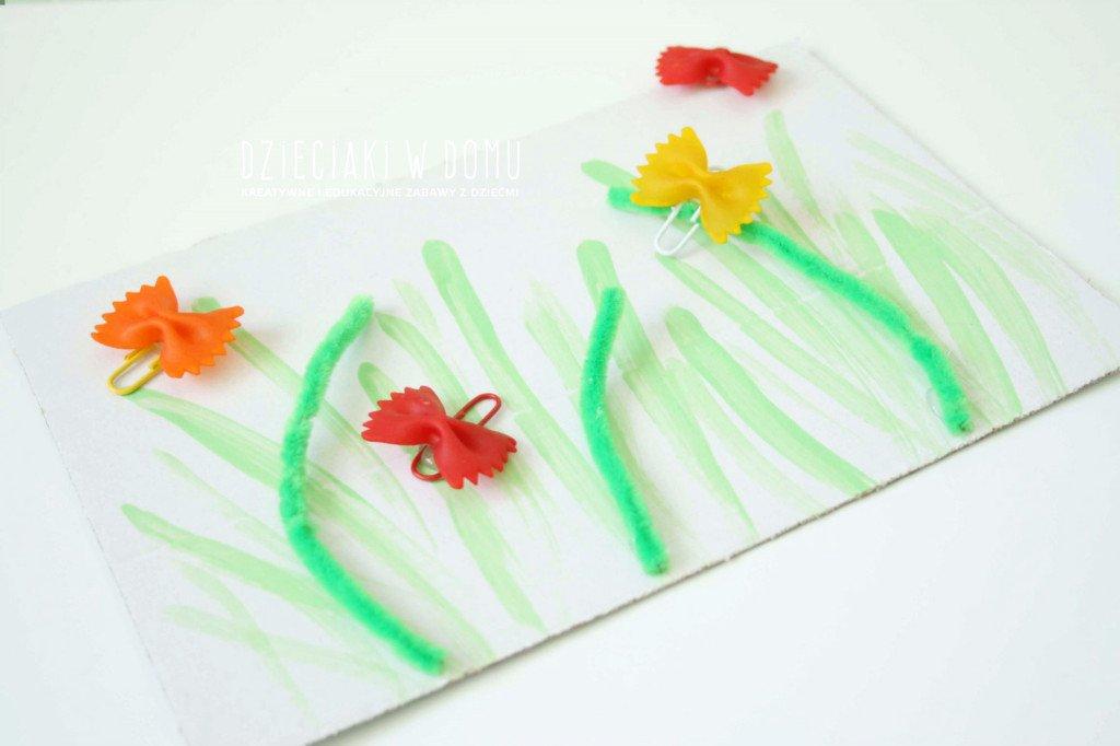 motylki na łące - wiosenna praca dla dzieci