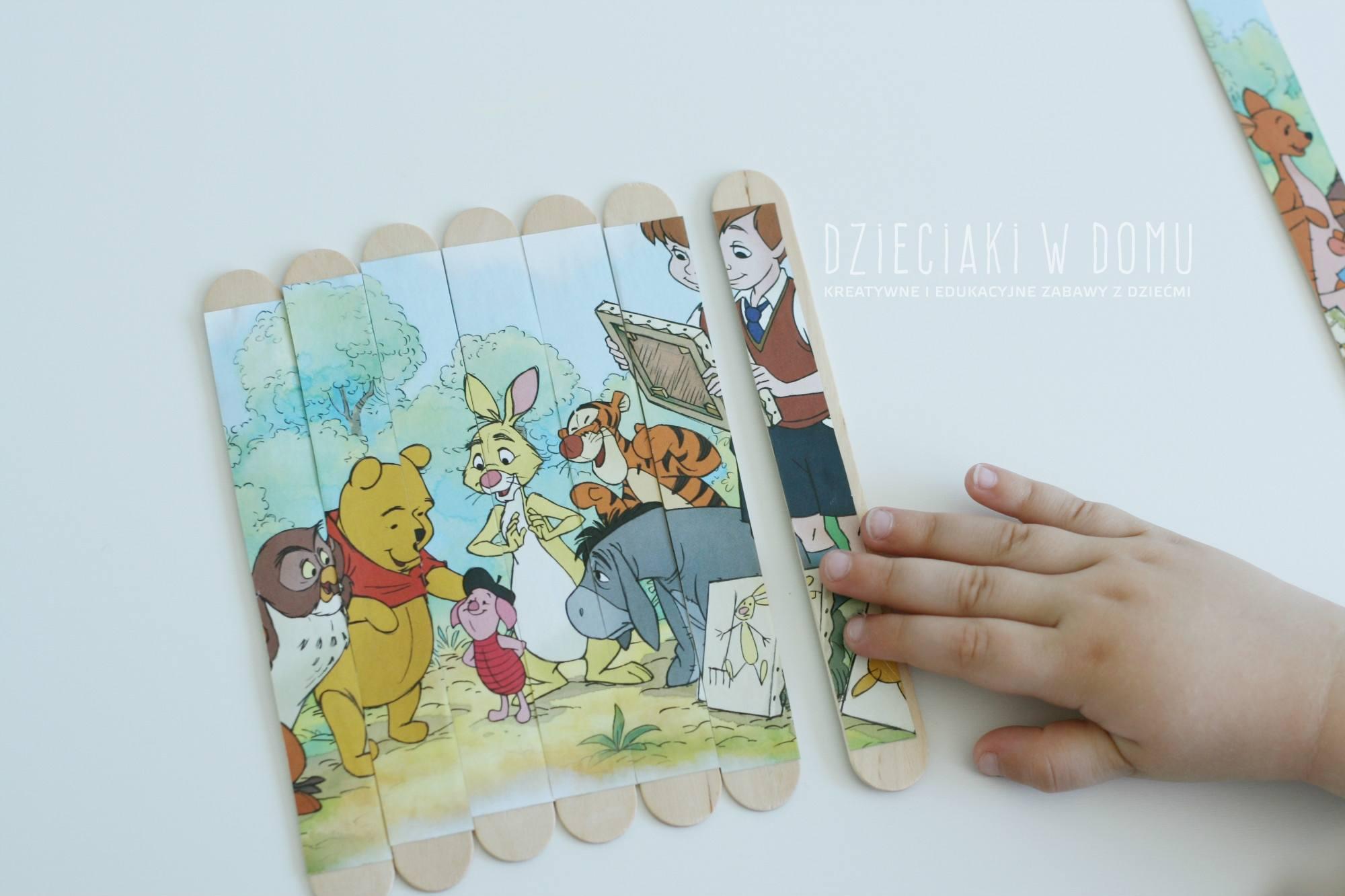 puzzle dla dzieci z patyczków kreatywnych - DIY