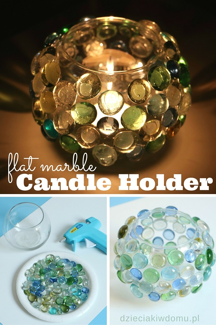 flat marble candle holder craft