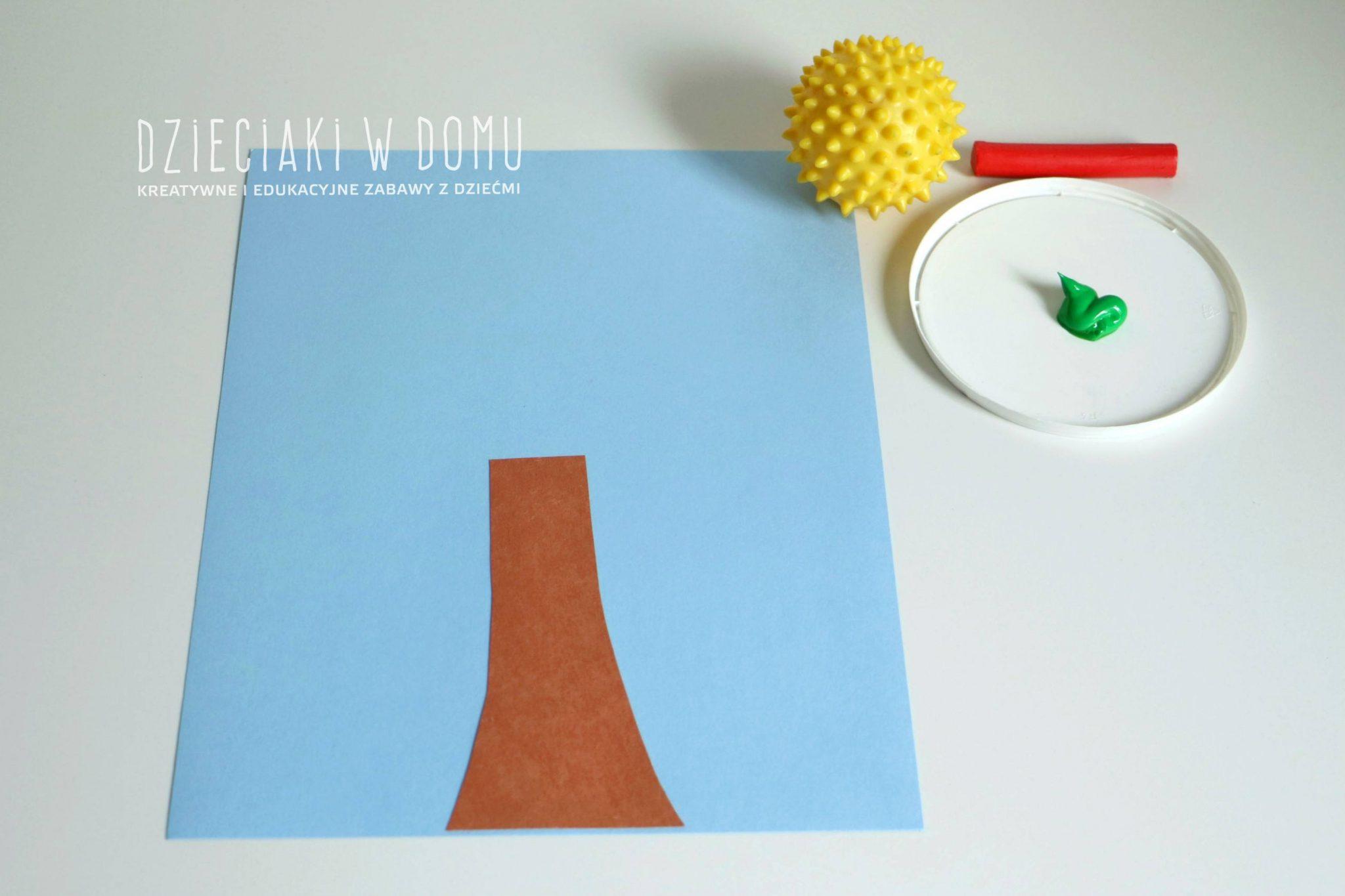 jabonka malowana pieczk - praca plastyczna dla dzieci
