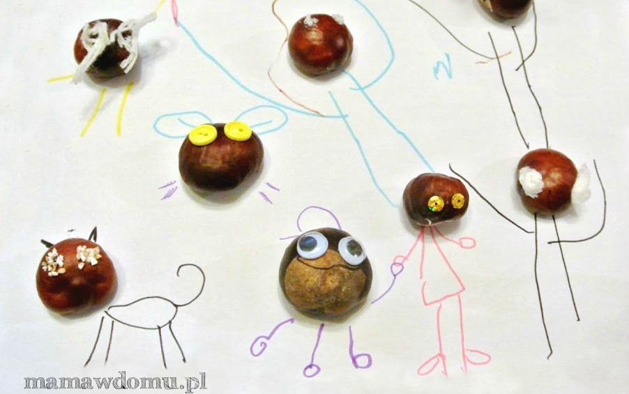 kasztaniaki - kreatywna zabawa dla dzieci