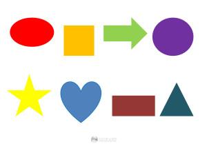 kształty - puzzle - szablon