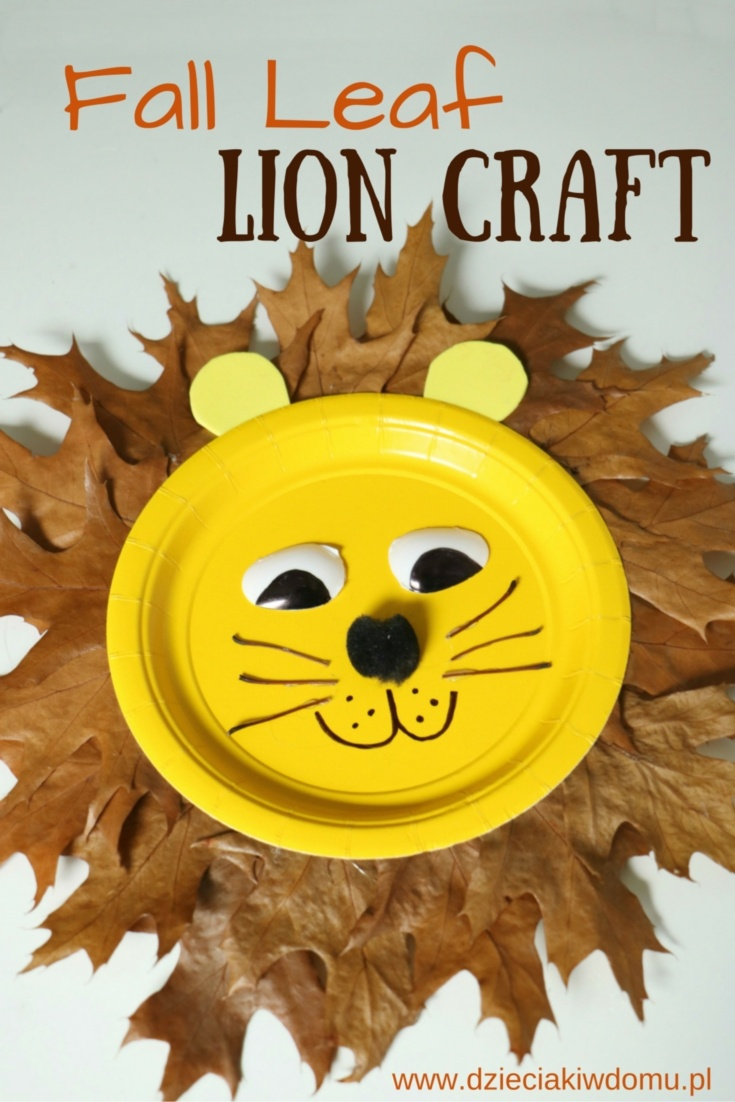 fall leaf lion craft for kids