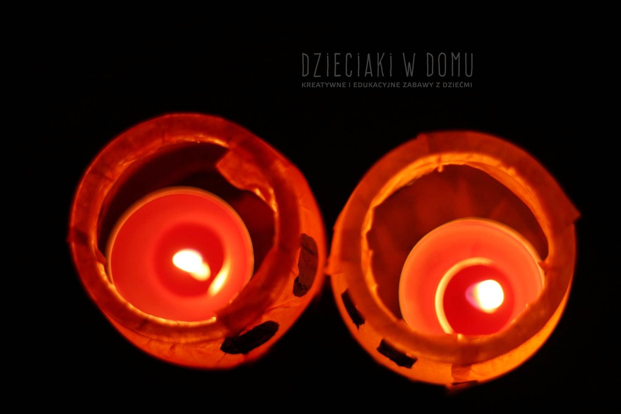 dyniowe lampiony ze słoików DIY