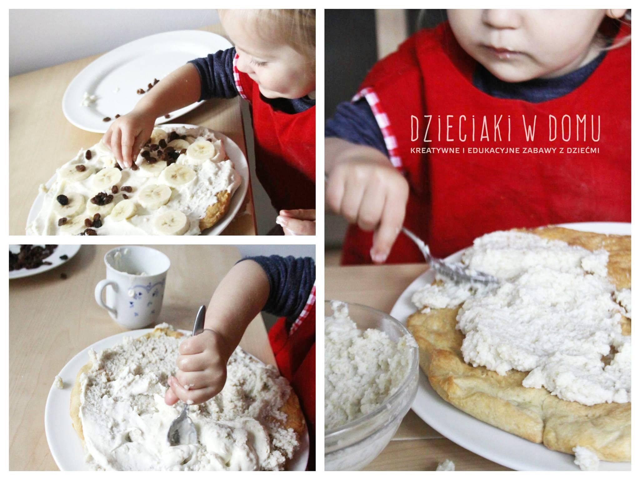 Tarta w wykonaniu dwulatka - kuchnia dla najmłodszych