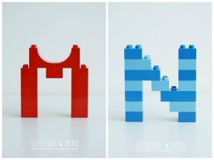 litery z lego Duplo - szablony