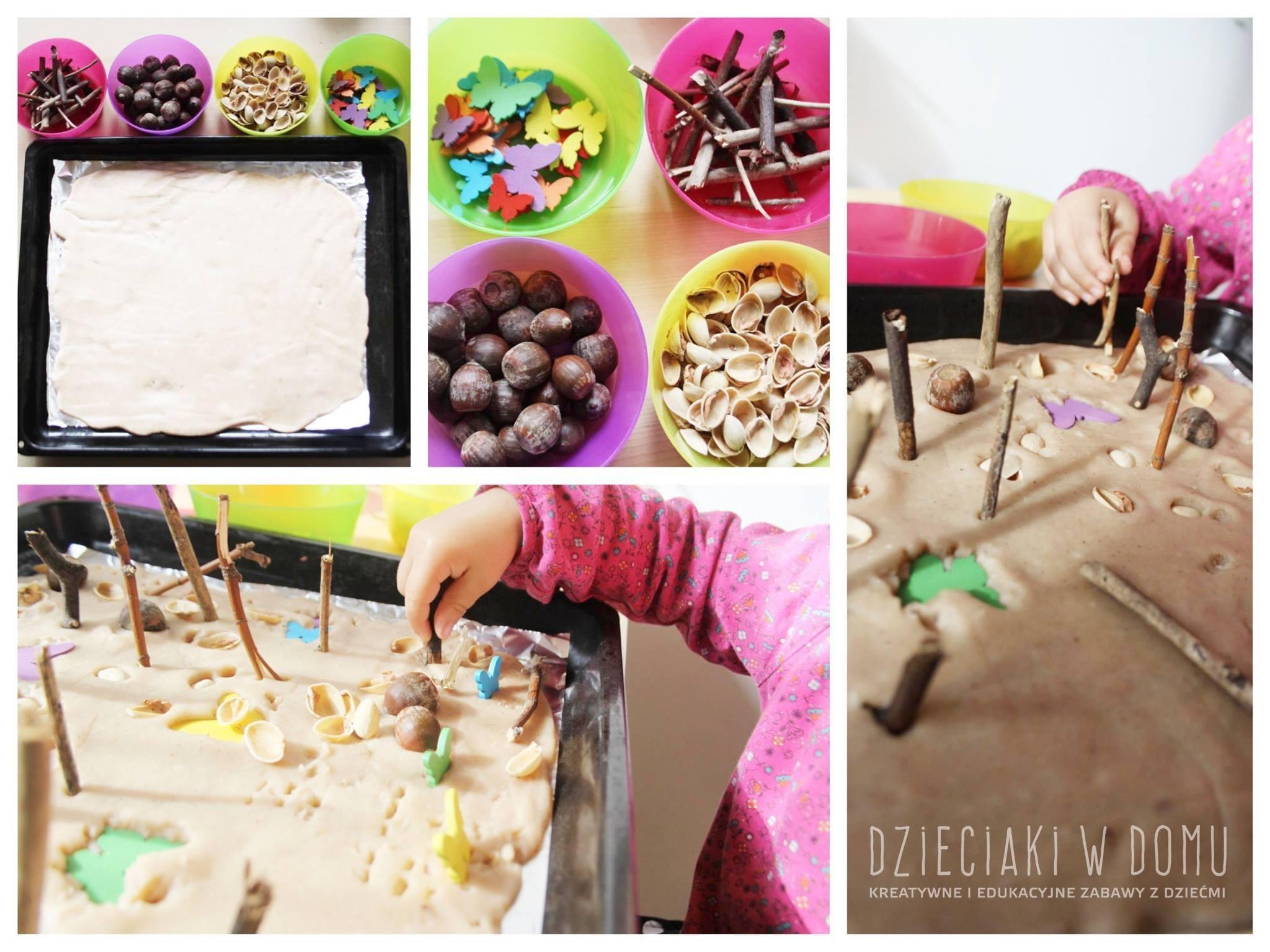 Kompozycja w ciastolinie - spontaniczna zabawa malucha