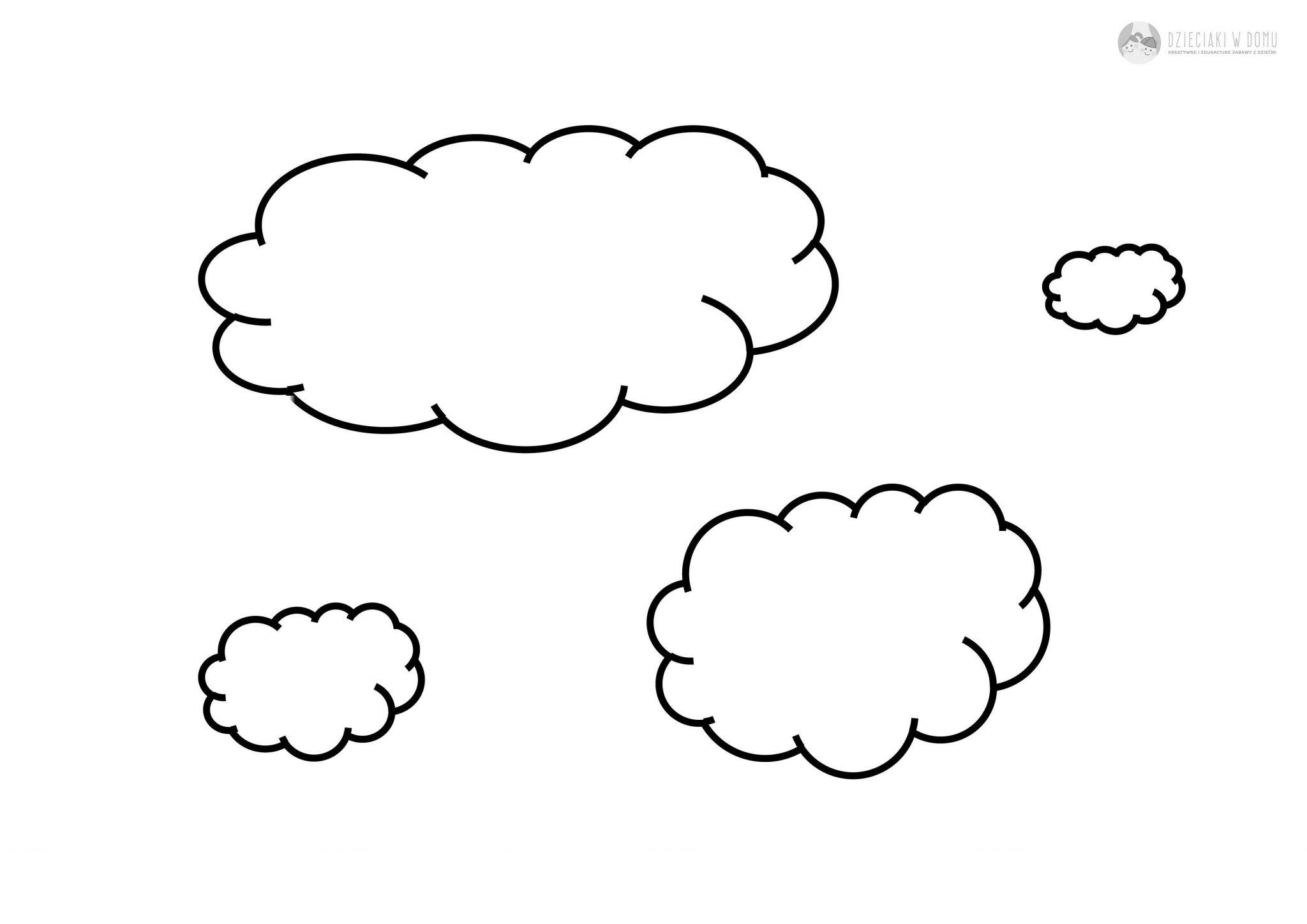 Chmury pd największej do najmniejszej - karty pracy dla dzieci