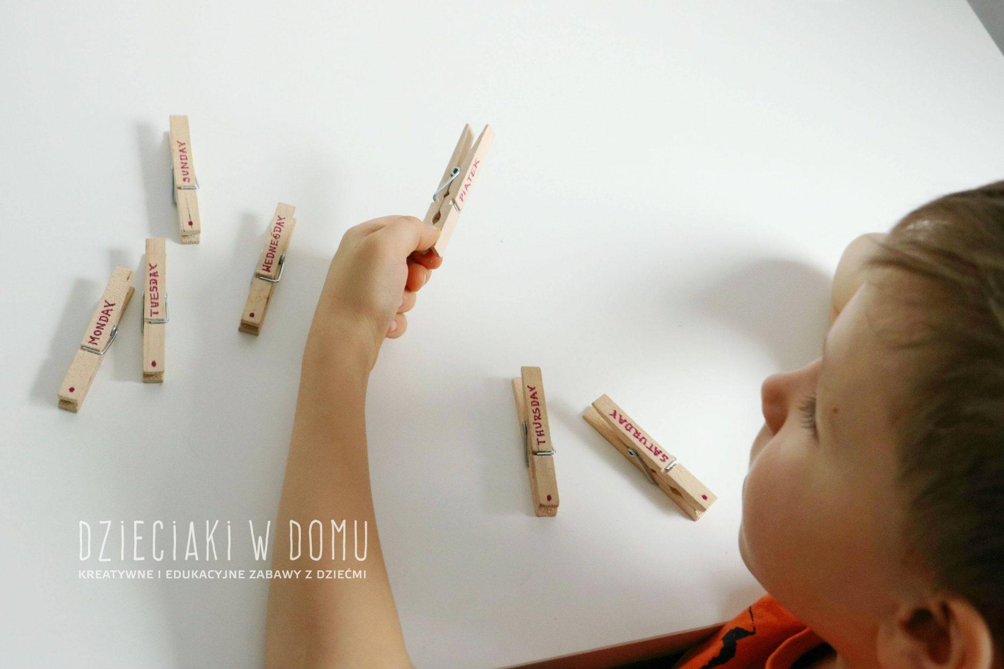pomoc w nauce dni tygodnia po polsku i angielsku