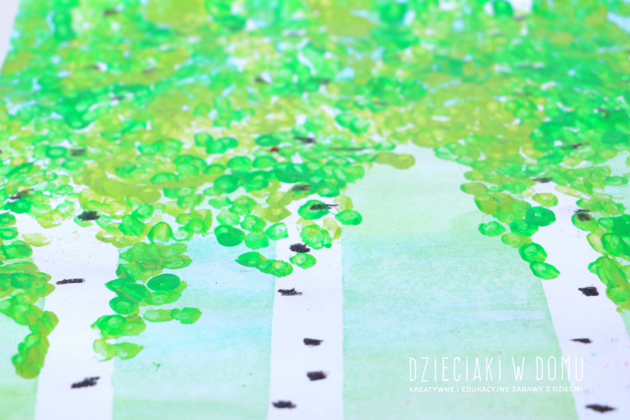 brzozy - praca plastyczna dla dzieci