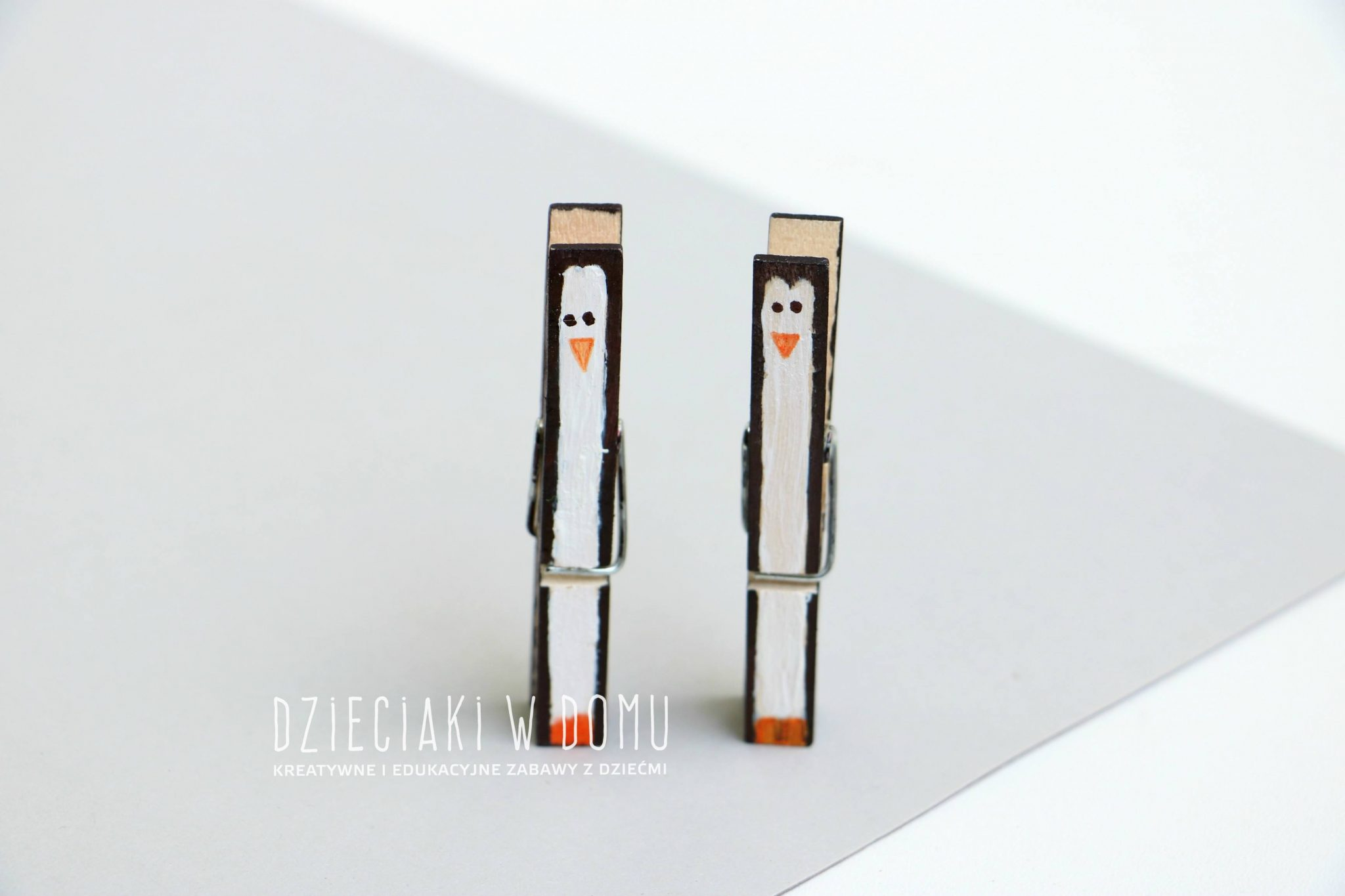 pingwiny z drewnianych klamerek