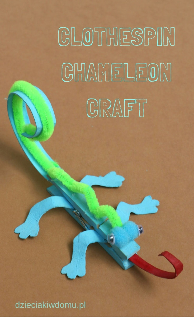 clothespin chameleon craft