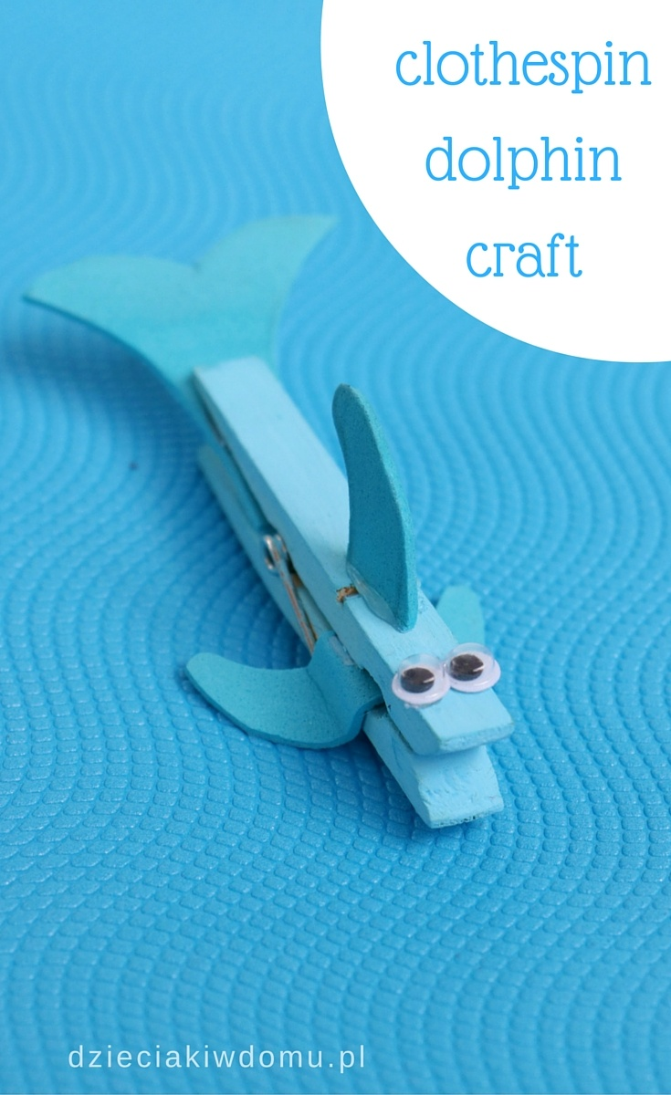 clothespin dolphin craft for kids