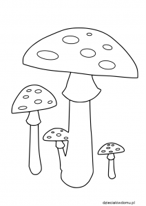 muchomory - szablon