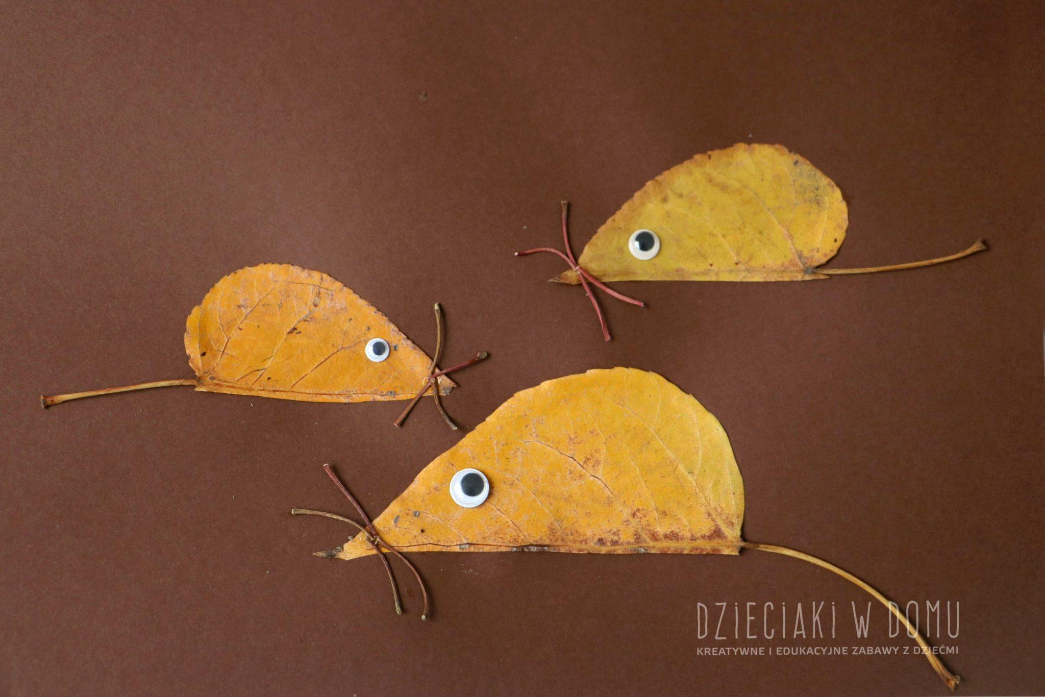 myszki-z-jesiennych-lisci-praca-plastyczna