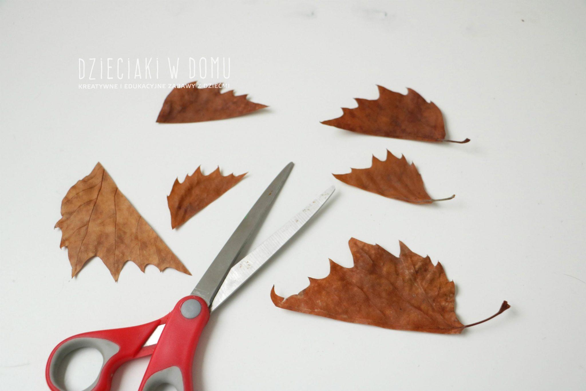 jeze-z-jesiennych-lisci-praca-plastyczna