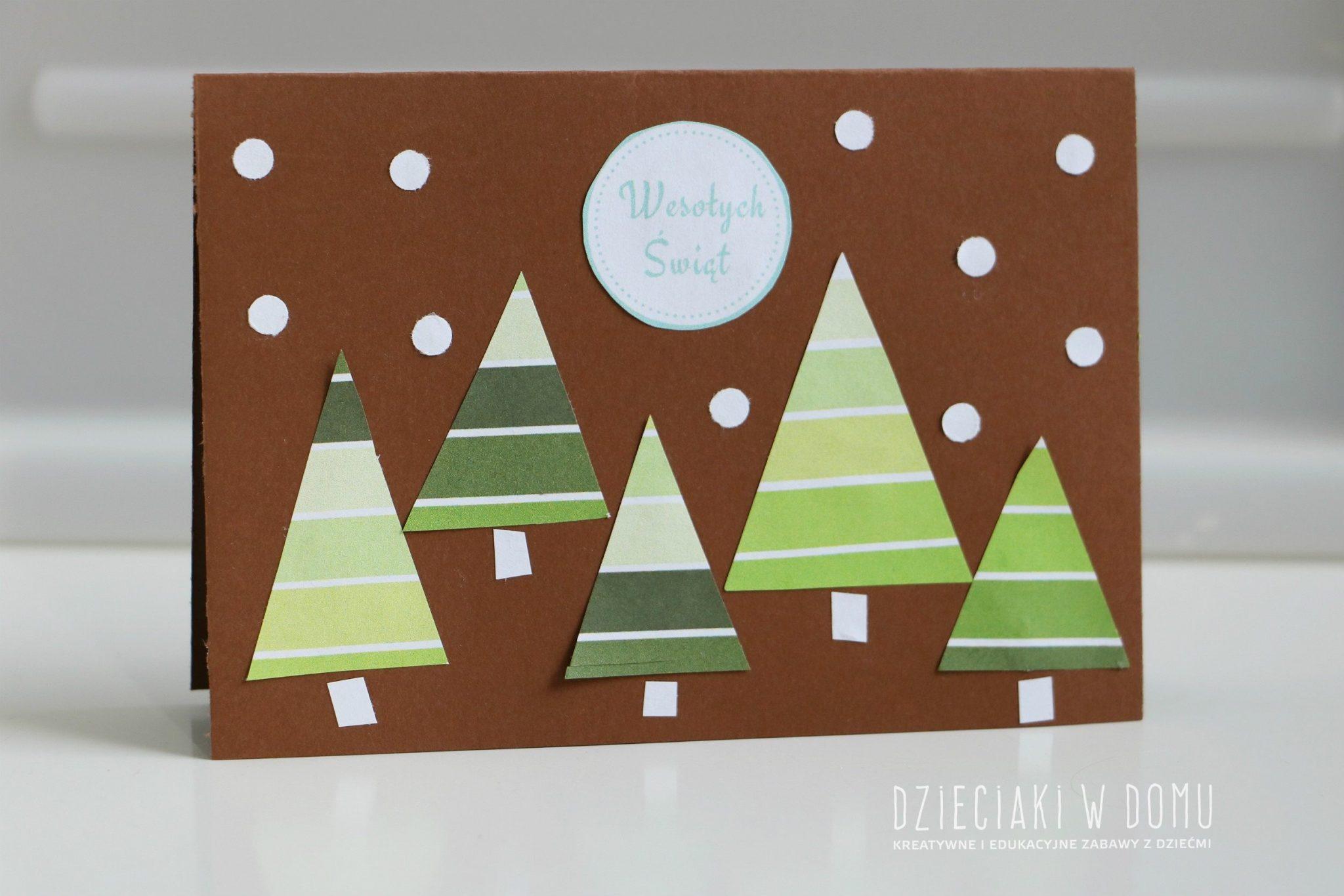 kartka świąteczna DIY
