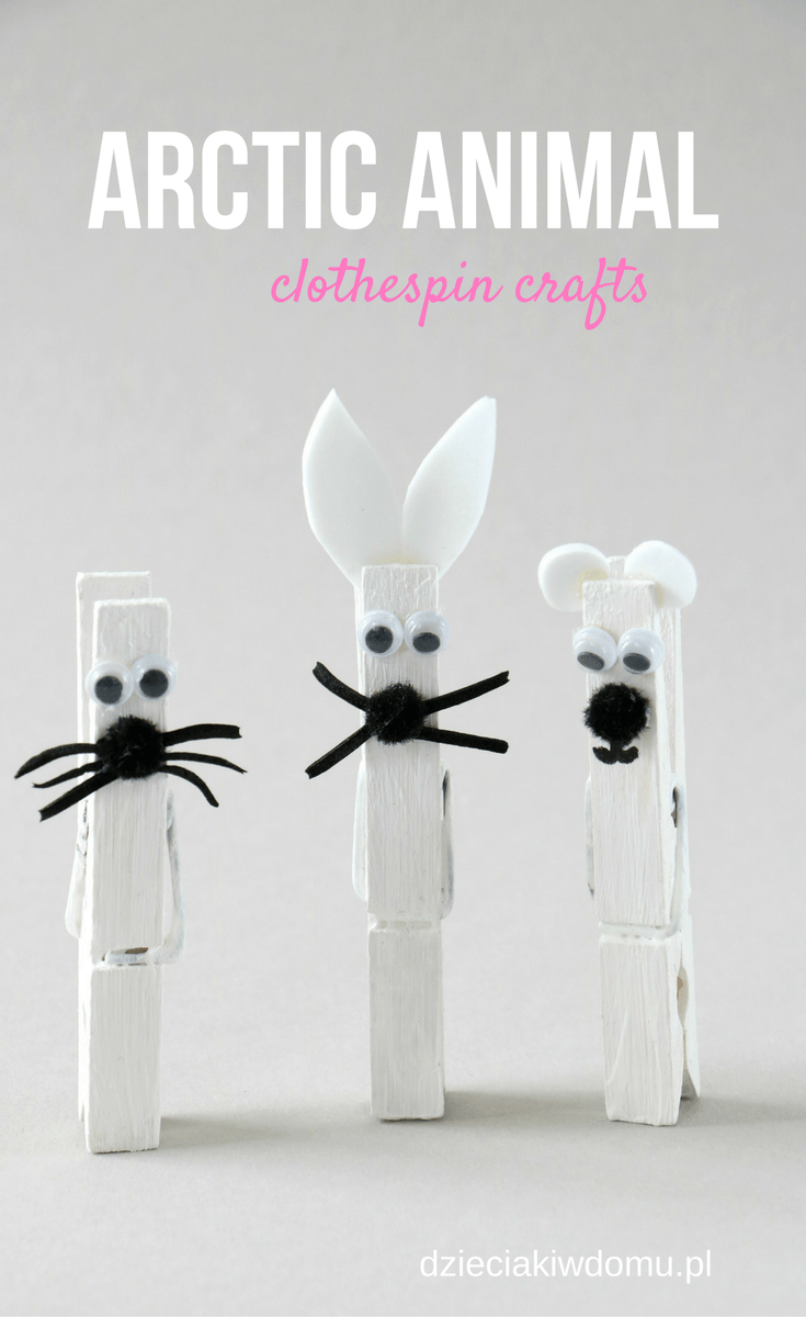 arctic animal clothespin crafts 2