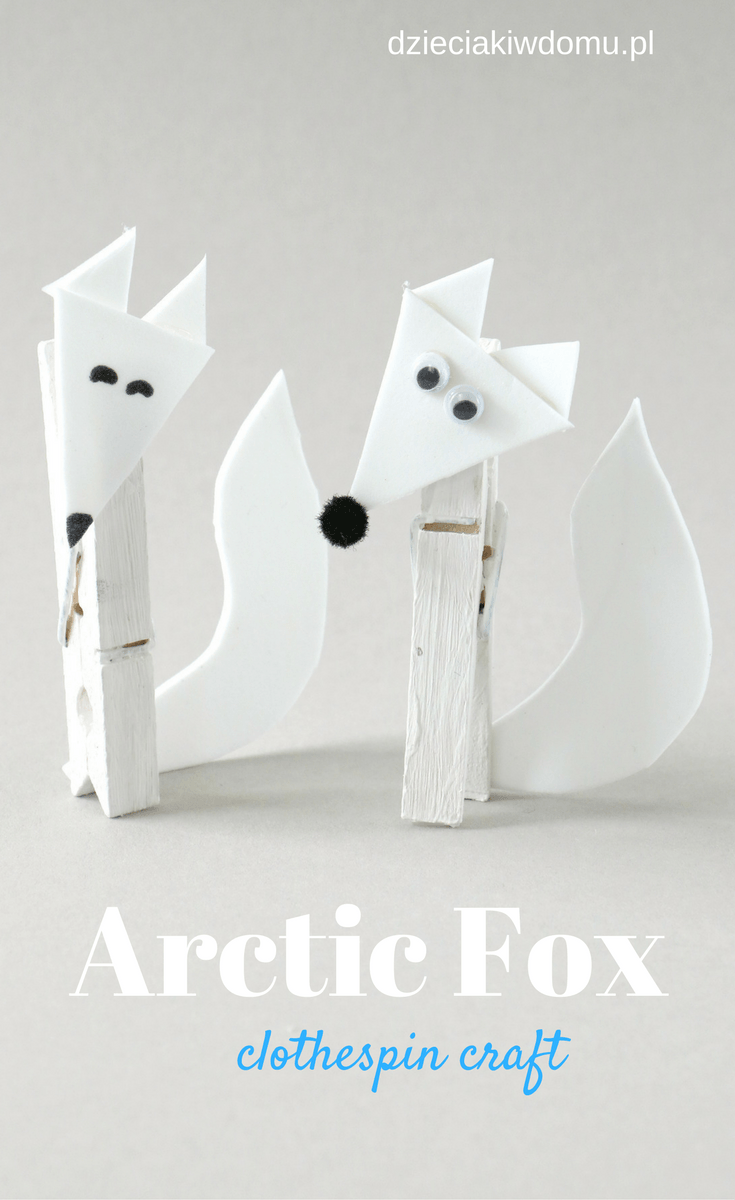 arctic fox clothespin craft (2)