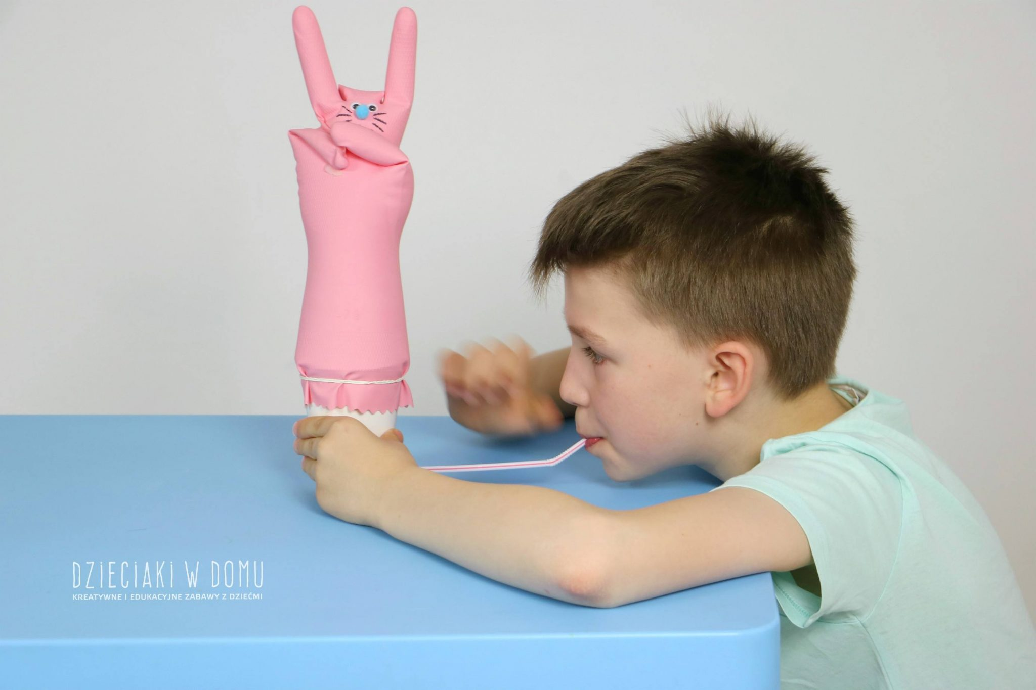 dmuchawka dla dzieci diy - zające