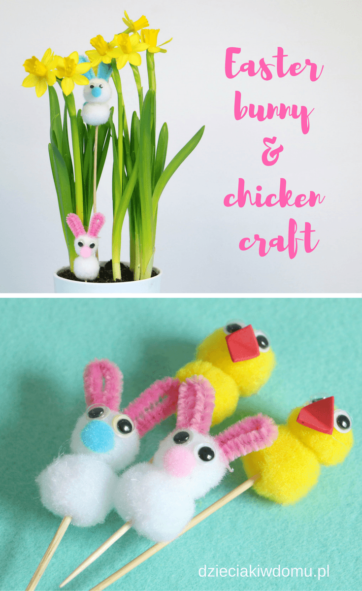 easter bunny and chicken craft