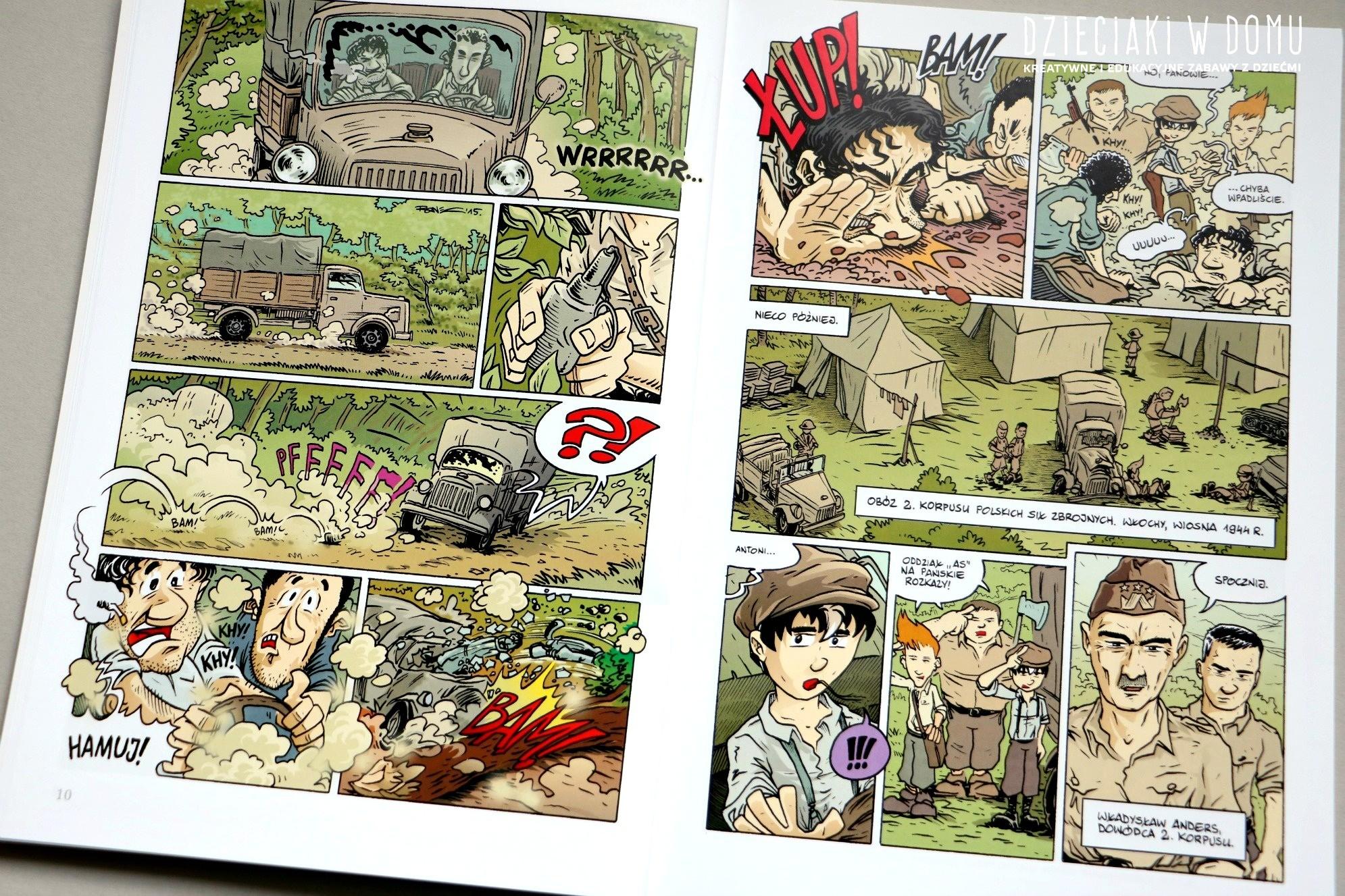wojenna-odyseja Antka Srebrnego - komiks